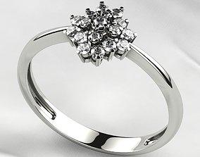 3D printable model Gems Tower Gold Ring