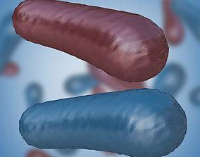 3D model game-ready Bacterium 3