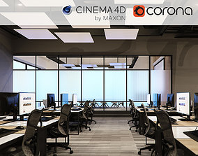 Corona - C4D files - Office Space 2 Interior 3D model