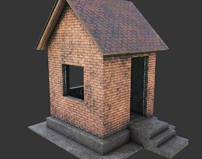 3D model old house brick