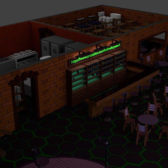 Restaurant Bar Kitchen Stage Storage SET p6