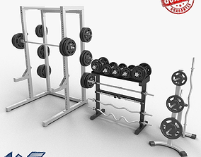 3D model Gym Dumbbells