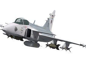 Saab JAS-39 Gripen South Africa Air Force 3D asset