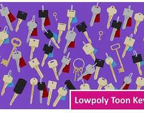 Lowpoly Toon Keys 3D model