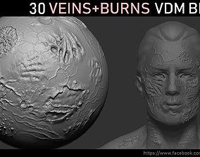 3D model organic Zbrush - Veins and Burns VDM Brush