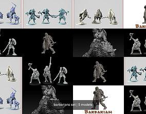 3D model barbarians set
