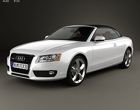 Audi A5 Cabriolet with HQ interior 3D model