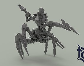 ARACHNE NECRO FEMALE cyborg 3D print model