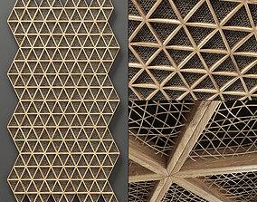 ceiling Ceiling tringle frame branch n1 3D model