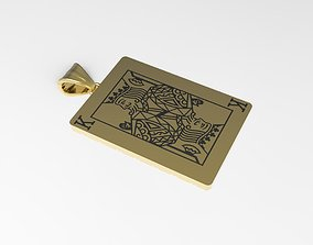 3D print model Playing card King pendant
