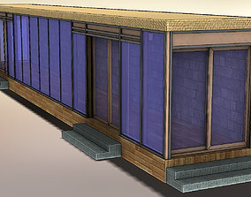 Glazed veranda with sliding doors 3D