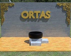 ORTAS TIRE NO 17 GAME READY 3D asset