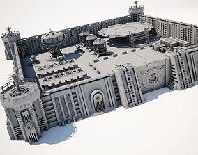 Military supply base 3D model