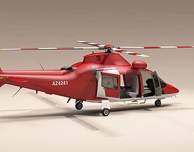 3D AW109 air ambulance