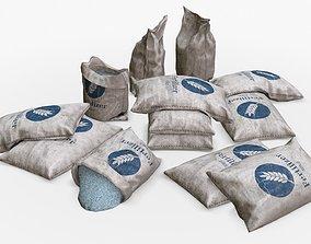 low-poly Fertilizer Bag Assets
