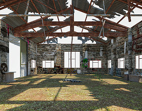 Old Warehouse 3 interior and exterior 3D asset