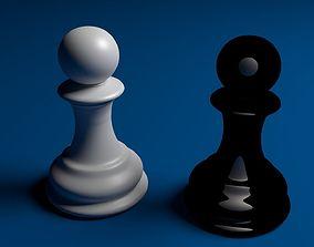 chess 3D Chess pawn