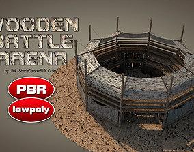 Wooden Battle Arena 3D model