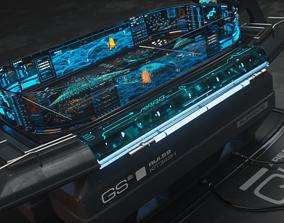 3D model Holographic Scifi Table - C4D- Octane
