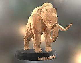 3D asset Parametric Mammoth Soft Gold