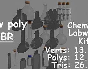 3D asset Low poly PBR Labware kit