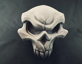 Stylised 3D Printable Demon Skull