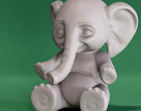 3D printable model keychain Cute Elephant