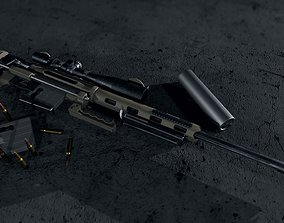 CheyTac M200 Intervention 3D asset low-poly