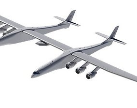Stratolaunch airplane 3D