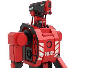 Police robot 3D model