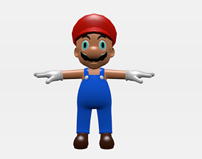 Mario rigid model rigged