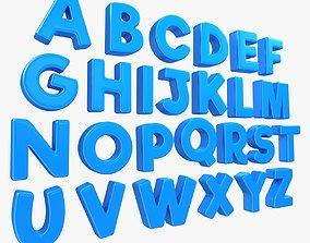 3D asset Alphabet - Toon