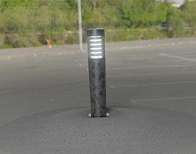 3D asset Galvanized Light-Column -20- Street-Light 9