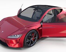 3D model Tesla Roadster with Interior