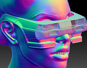 3D Retro Futuristic Car Sunglasses