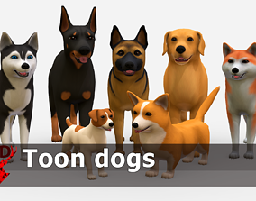 Toon Dogs Pack 3D model