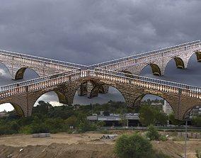 Bridges Converging City walkway 3D model