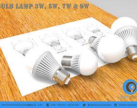 Bulb Lamp 3W 5W 7W And 9W 3D model
