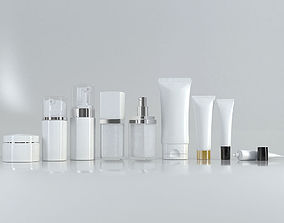 3D model Cosmetic Bottle and Tube Set