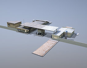 3D model MilitaryBase PortoVelho RoadBlock