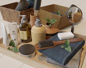 cream 3D model Modern Bathroom Accessories