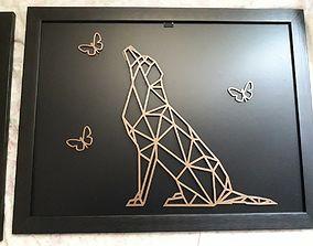 3D printable model Labrador dog sculpture 2D to wall