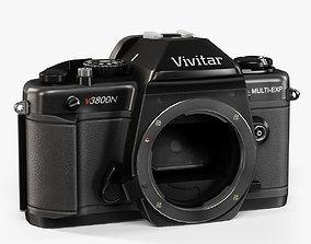 Vivitar V3800N Body 35mm film SLR camera 3D asset