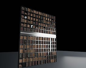 Book library 3D model