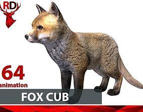 3D model Fox cub