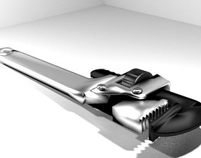 Mechanical Handtools - Pipe Wrench 3D model