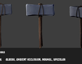 Medieval hammer 3D asset game-ready
