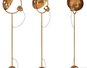 Floor Lamp Reflector Brass 3D model