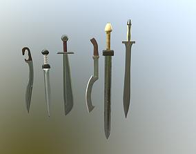 Ancient sword pack 3D model