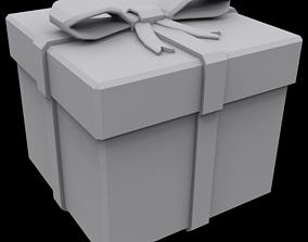 Presents box square claus 3D print model